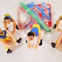 Vintage Cake Decorations, Cake toppers, Basketball Team Players, basketballs and hoop set party favors
