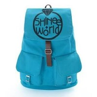 KPOP SUPPORT FANMADE ALL CANVAS SCHOOLBAG (SHINee)