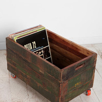 Urban Outfitters - Vintage Wood Rolling Cart