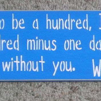 25% OFF TODAY Winnie The Pooh Signs   If You Live To Be A Hundred .... Primitive Wooden Sign