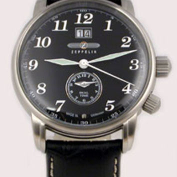 Graf Zeppelin LZ127 Big Date Dual Time Zone Watch 7644-2