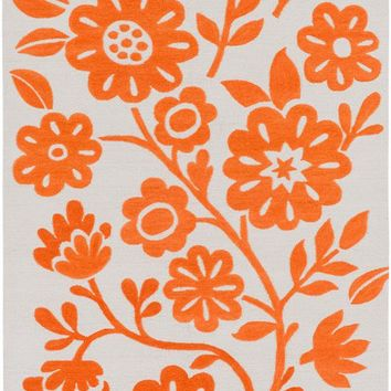 Surya Skidaddle Floral and Paisley Orange SDD-4006 Area Rug