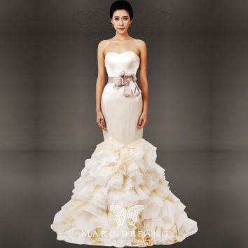 Art no. BG1019 (Luxury Mermaid Satin and Organza, Bridal Wedding Gown)