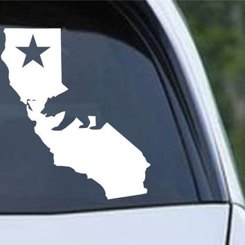 California State with Bear CA - USA America Die Cut Vinyl Decal Sticker