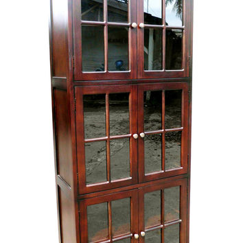 Siegen Six-Door Library Bookcase Enigmatically Polished Creation