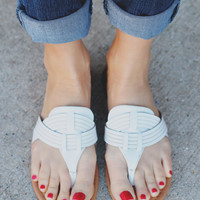 Barbados Sandal - White