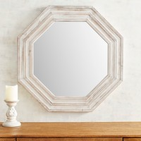 Rustic Whitewashed Mirror