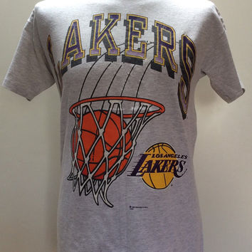 1992 LOS ANGELES LAKERS Official Licensed Made in U.S.A Vintage Shirt
