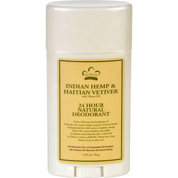 Nubian Heritage Deodorant - All Natural - 24 Hour - Indian Hemp And Haitian Vetiver - With Neem Oil - 2.25 Oz
