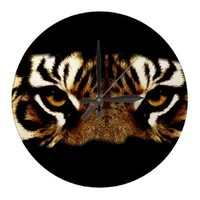 Eyes of a Tiger Clocks from Zazzle.com