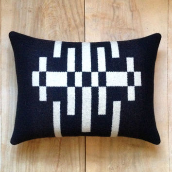 Pendleton Wool Fabric Pillow - Native Contemporary Geometric - The Portland Collection