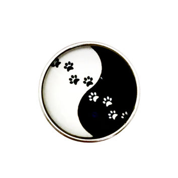 Paw Yin Yang Snap 20mm for Snap Charms
