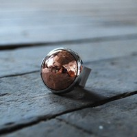 The Copper Stone Ring by dollybirddesign on Etsy