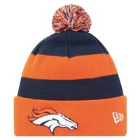 New Era Denver Broncos 2013 On-Field Player Sideline Sport Knit Hat - Orange/Navy Blue