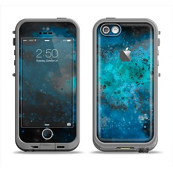 The Blue and Teal Painted Universe Apple iPhone 5c LifeProof Fre Case Skin Set