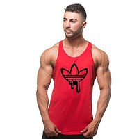 New Gyms Tank Tops Mens Bodybuilding Clothes Fitness Men Singlet Sleeveless Cotton Workout Stringer Gyms Shirts