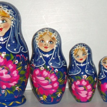 Matreshka Rose ship nesting doll traditional russian gift souvenir wood hand made hand painted children room decoration collectible item