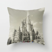 Walt Disney World Throw Pillow by Abigail Ann