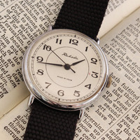 Vintage Raketa mens watch white dial russian watch ussr ccp soviet watch