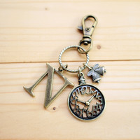 Charm Keychain, Alphabet, Clock, Cu.. on Luulla