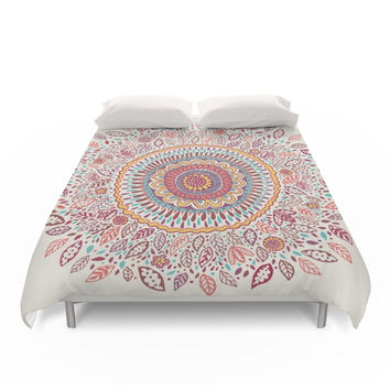 Society6 Sunflower Mandala Duvet Cover
