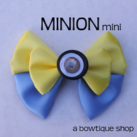 minion mini hair bow
