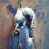Tribal Beaded Feather Hair Clip by francisfrank on Etsy