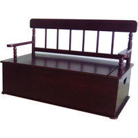 Levels of Discovery Cherry Finish Bench Seat w/ Storage - LOD33055