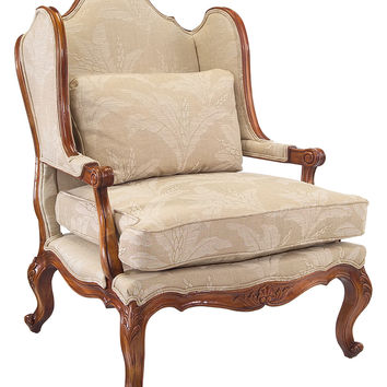 Swedish Style Floral Patterned Armchair