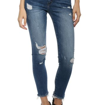 Flying Monkey M/R Distressed Waistband Skinny