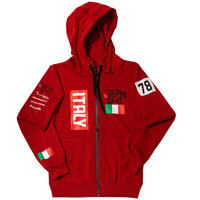 Club Foreign Sports Italy Series Hoodie Slim Fit Red