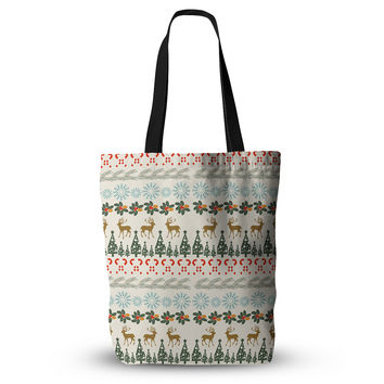 "Famenxt ""Christmas Vibes"" Holiday Pattern Everything Tote Bag"