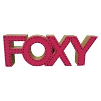 "Valentine's Day ""Foxy"" Wood Word Decor"