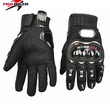 2017 Real Guantes Pro-biker Motorcycle Gloves Motocross Glove Full Finger Protective Gear Flexible Racing For Gants Luvas Moto