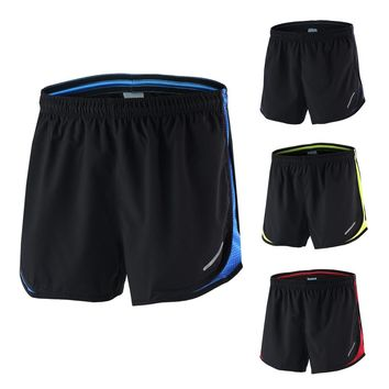 Arsuxeo Men's 2 in 1 Running Shorts Quick Dry Marathon Running Shorts Training Fitness Running Cycling Pockets Sports Shorts