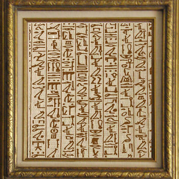 Ancient Egyptian Heiroglyphics Writing Digital Image Download Transfer To Pillows Tote Tea Towels No. 2173 SEPIA