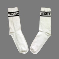 Text White Socks : TCNF : Taylor Caniff