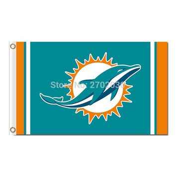 Miami Dolphins Flag Team Super Bowl Champions Banners Dolphins Flag Flying 90 x 150 cm Banner Polyester Hanging