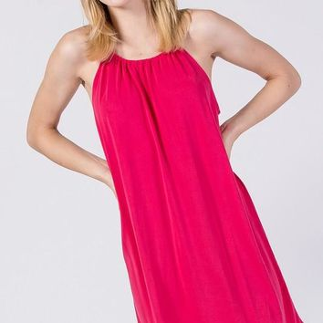 sandwashed modal sleeveless dress