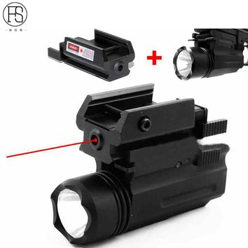 Red Laser Sight and Glock Flashlight Combo Tactical Rifle Lights for Pistol Guns Glock 17,19, 22 Series Hunting Laser Sight