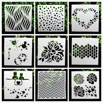 1 Sheet Layering Stencils for DIY Scrapbooking photo album Decorative Embossing DIY Paper Cards Crafts