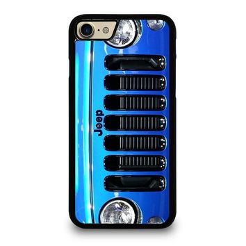 JEEP WRANGLER POLAR FRONT BLUE iPhone 4/4S 5/5S/SE 5C 6/6S 7 8 Plus X Case