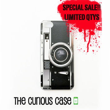 SALE - BLACK FRIDAY iPhone 5/5s Hard Case Clear Plastic Trim | Limited Quantities Retro Black Camera