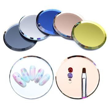 Mirror Glass False Nail Tips Display Board Color Palette Practice Showing Shelf Nail Art Manicure Tools UV Gel Polish