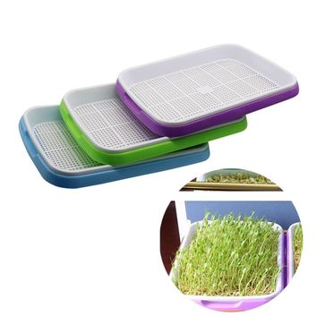 1 set Double Layer Bean Sprouts Plate Seedling Tray Planting Dishes Growing wheat seedlings Nursery Pots Home Garden plant tools