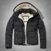 A&F Sherpa Lined Puffer Jacket