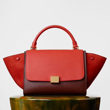Small Trapeze Bag in Multicolour Smooth Calfskin