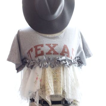 Texas A & M crop top Tshirt, Texan Girls, Country girls, True rebel clothing