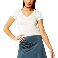 Night Jewel Saphire Satin Mini Skirt