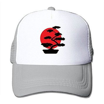 HUE&NY Men's Trucker Hat Bonsai Tree in Yin Yang Air Mesh Polyester Cap